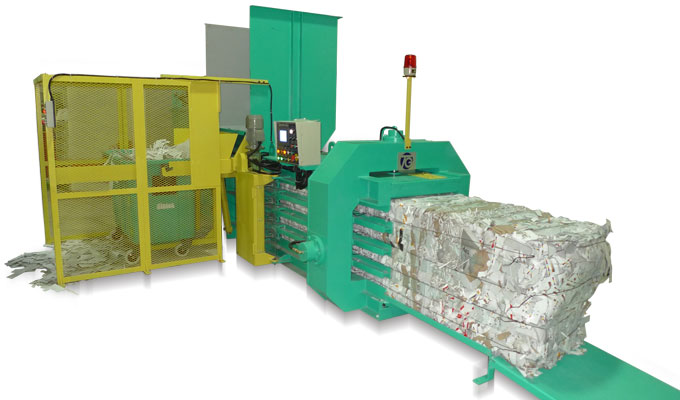 recycling baler for tissue paper wastes